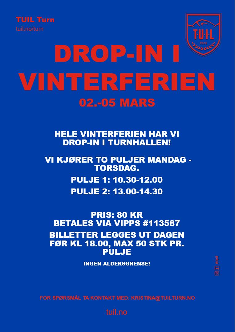 DROP-IN I VINTERFERIEN (UKE 10)